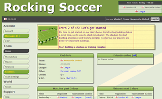 Rocking Soccer - free online soccer manager game